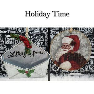 Letters To Santa Merry Christmas Ornaments NWT